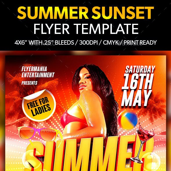 Summer Sunset Flyer Template