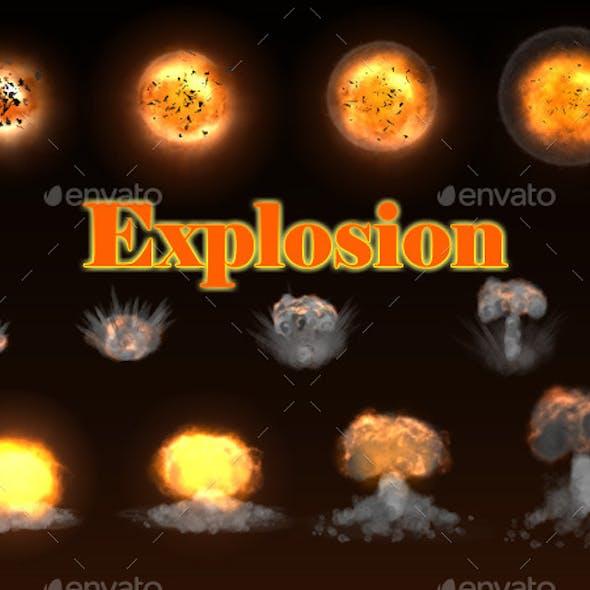 Stylized Explosion