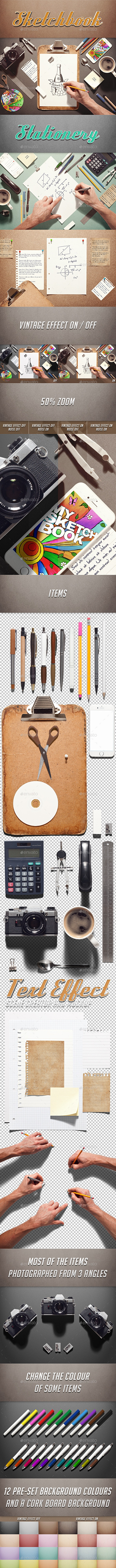 Sketchbook / Stationery Scene Creator - Hero Images Graphics