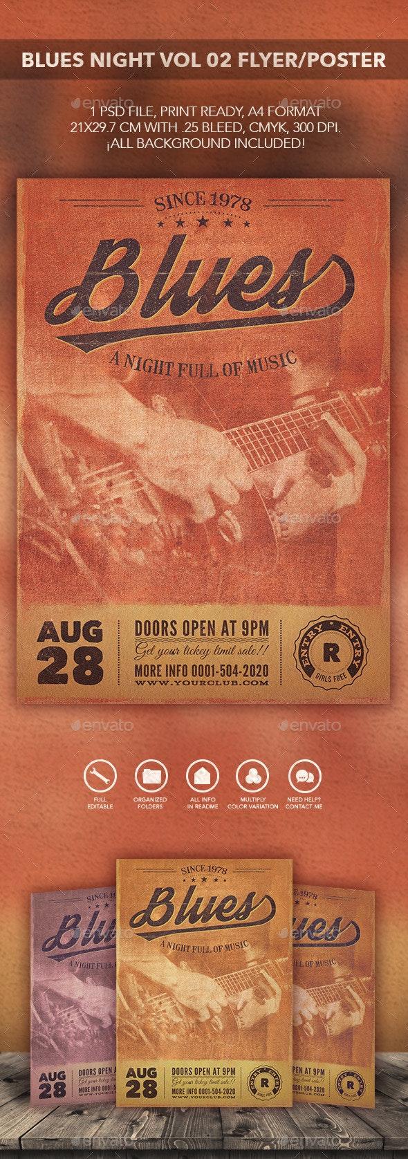 Blues Music Flyer Poster vol 02 - Flyers Print Templates