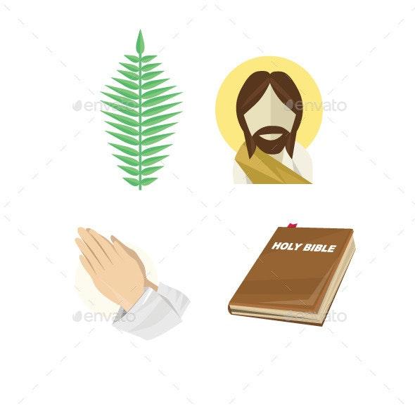 Palm Sunday Set - Religion Conceptual
