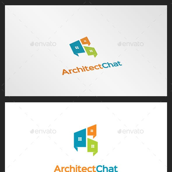 Architect Chat Logo Template