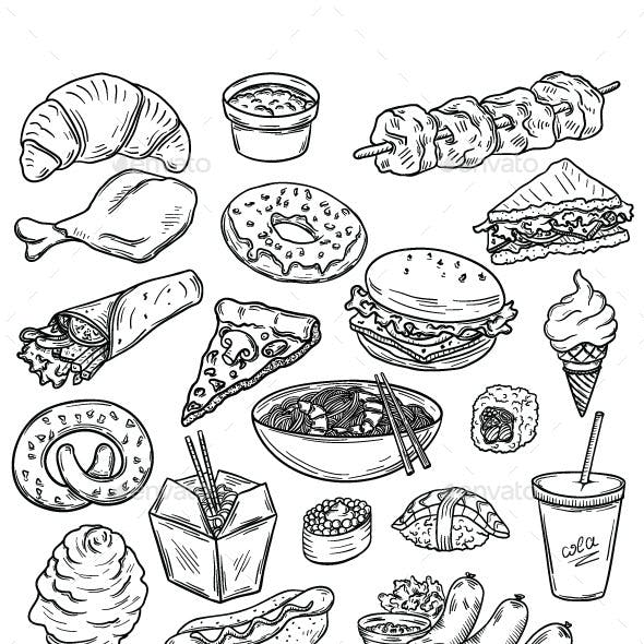 Collection of Food Items