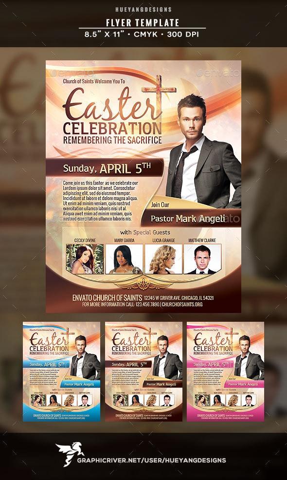 Easter Celebration Flyer - Holidays Events