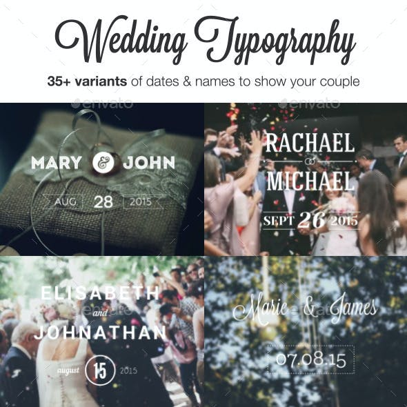 Wedding Typography