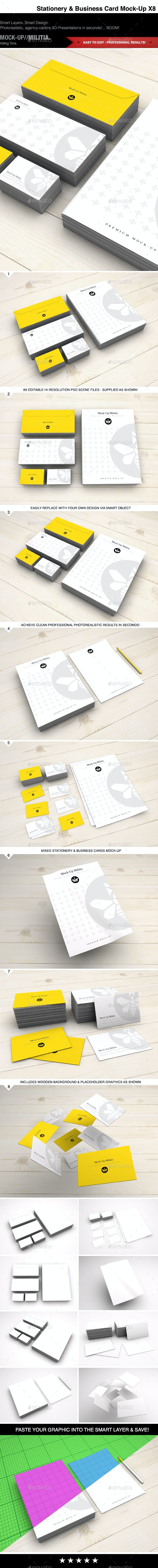 Stationery | Business Card | Visual ID | Mock-Up - Stationery Print