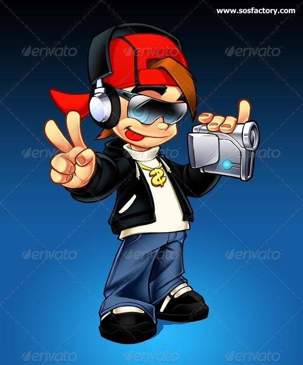 Mascot design B-Boy - Characters Illustrations
