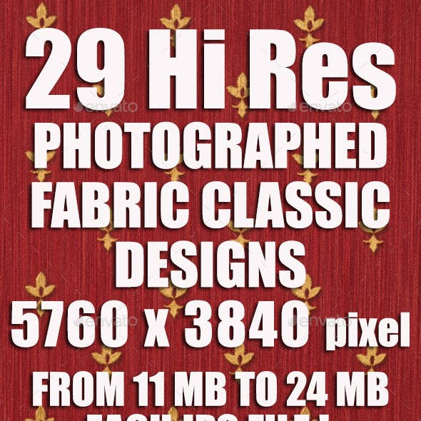 29 Hi-Res Fabric with Classic Designs Embossed