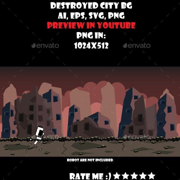 Destroyed city BG