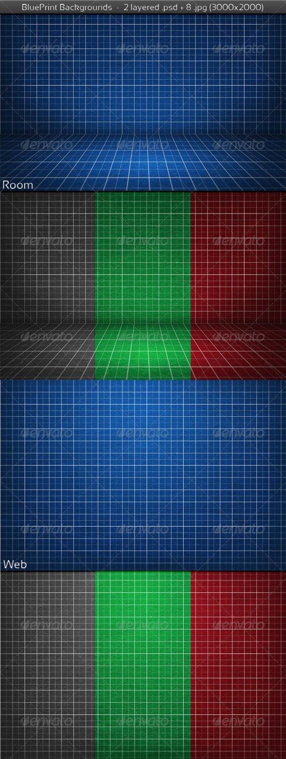 BluePrint Backgrounds - 3D Backgrounds