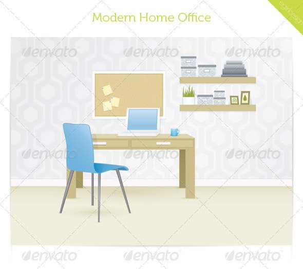 Modern Home Office - Business Conceptual