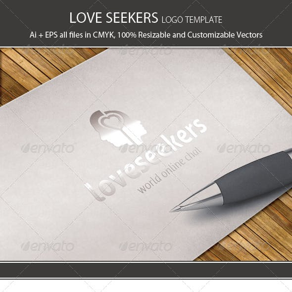 Love Seekers Logo Template