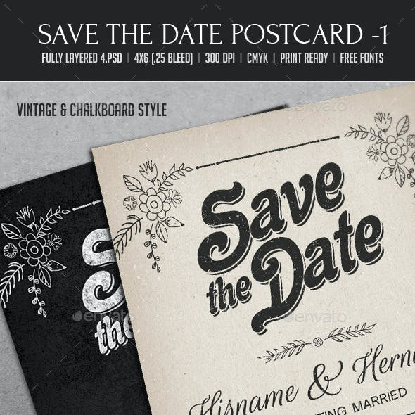 Save The Date Postcard 1