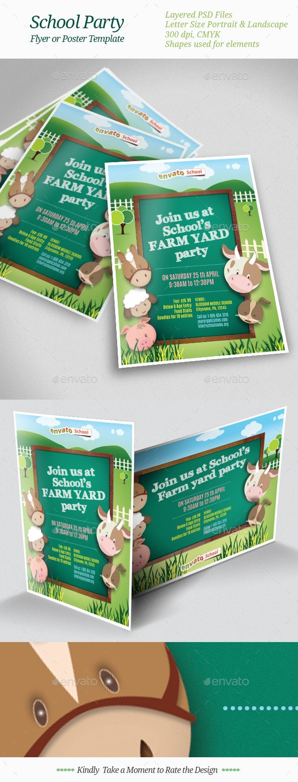 School Party Flyer Templates - Clubs & Parties Events