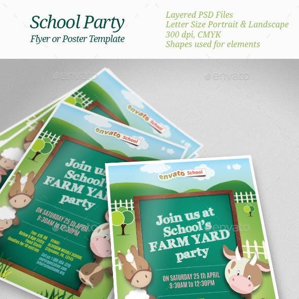 School Party Flyer Templates