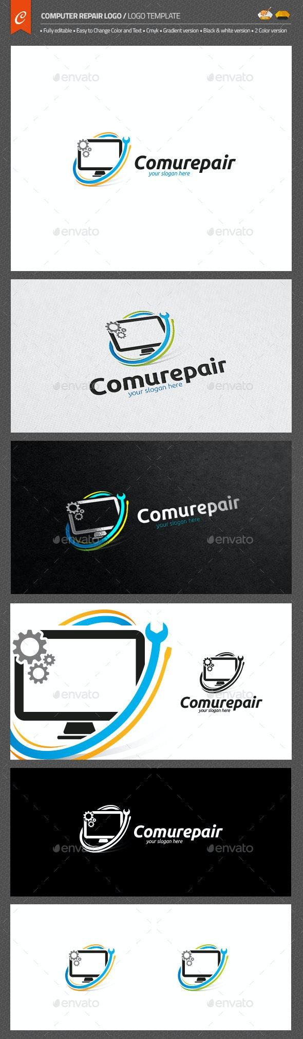 Computer Repair Logo - Objects Logo Templates