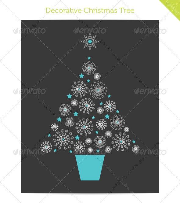 Decorative Christmas Tree - Christmas Seasons/Holidays