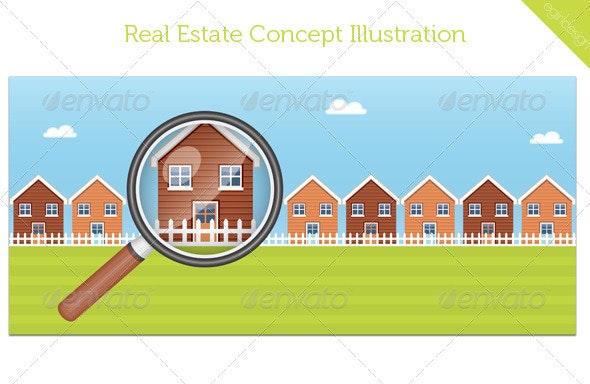 Real Estate Concept Illustration - Concepts Business