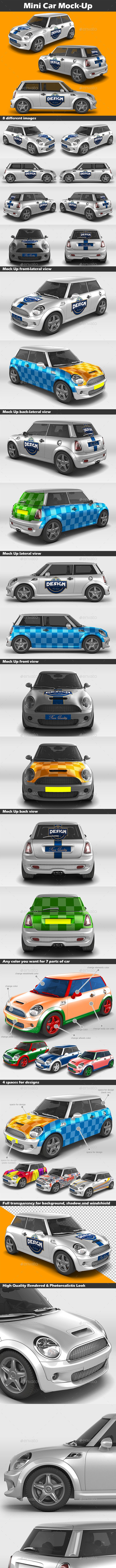 Mini Car Mock-Up - Vehicle Wraps Print