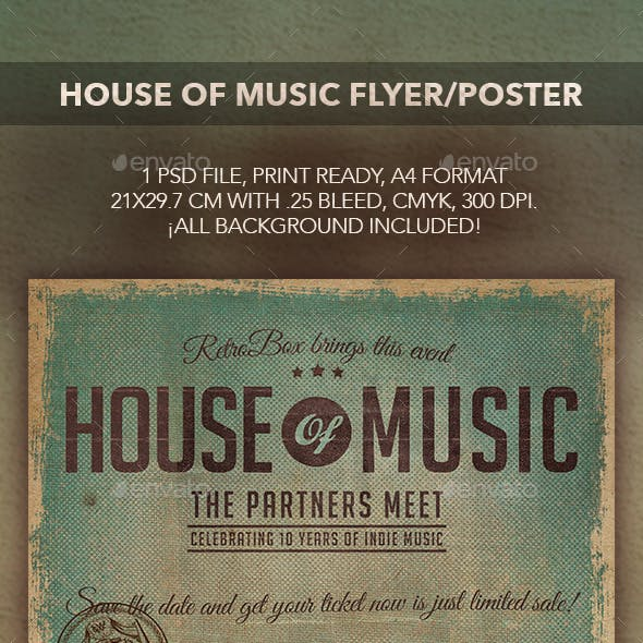 House of Music Flyer/Poster