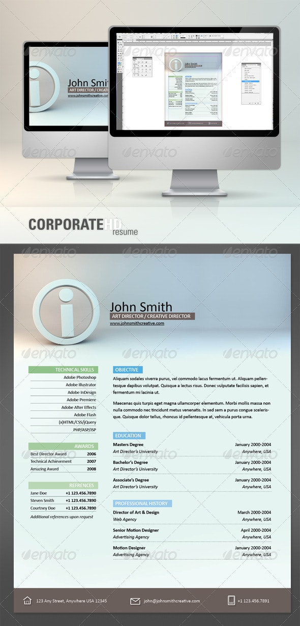 Corporate HD Resume - Resumes Stationery