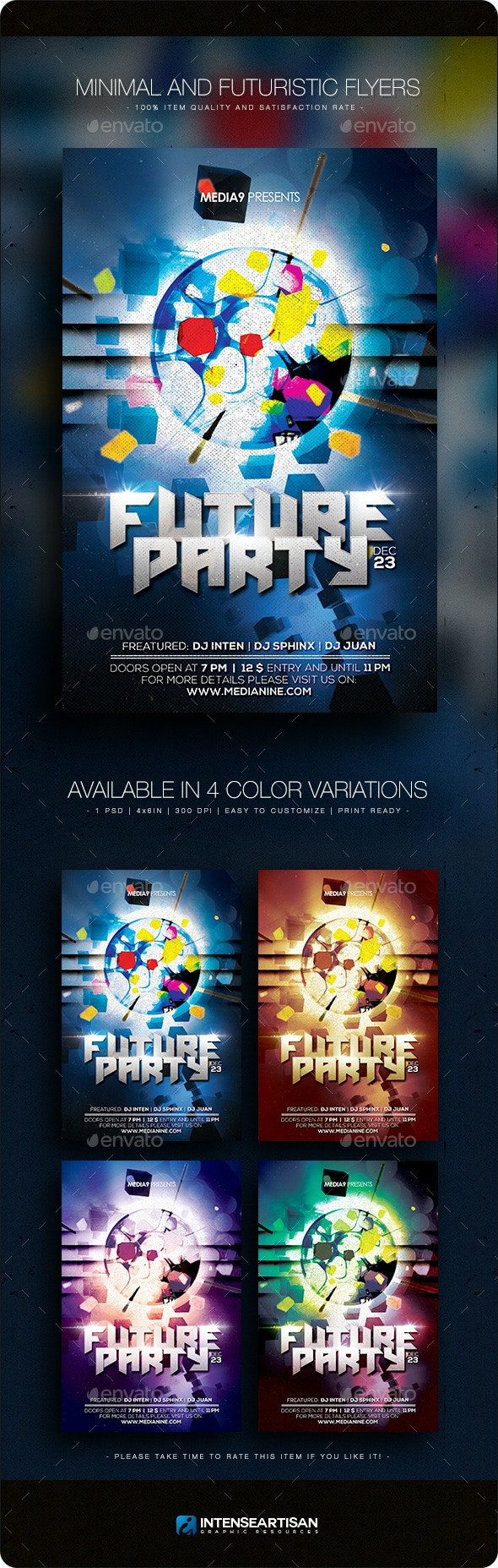Minimal Futuristic Flyer V.24 - Clubs & Parties Events