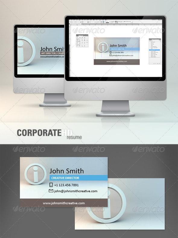 Corporate HD Business Card Template - Corporate Business Cards