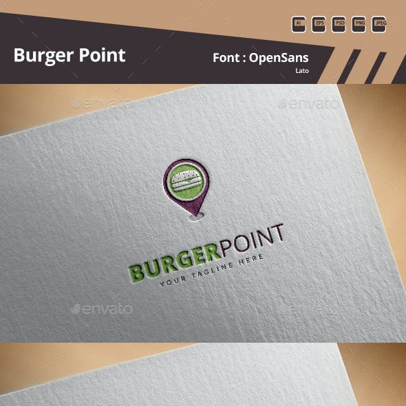 Burger Point Logo Template