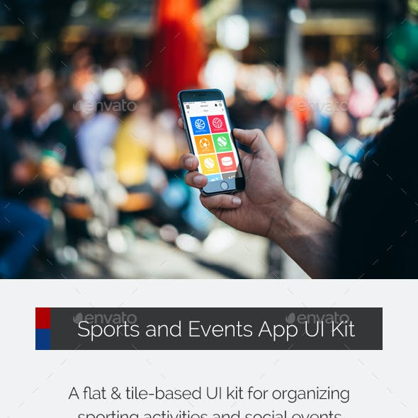 Sports and Events App UI Kit