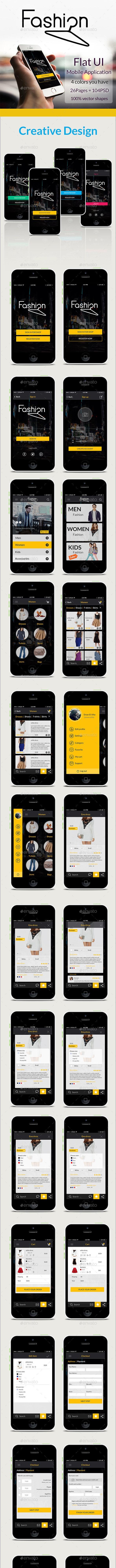 Fashion  - User Interfaces Web Elements