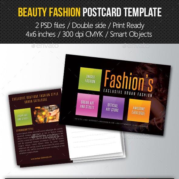 Beauty Fashion Postcard V04
