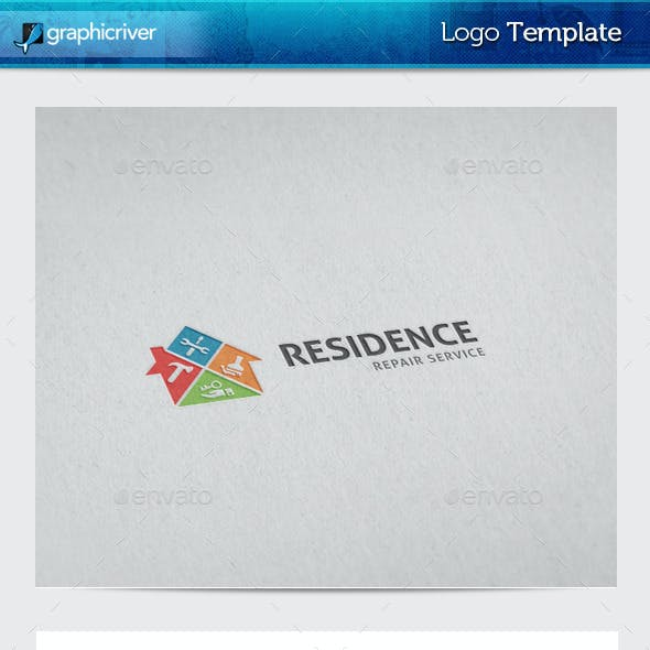 Residence Repair Logo Template