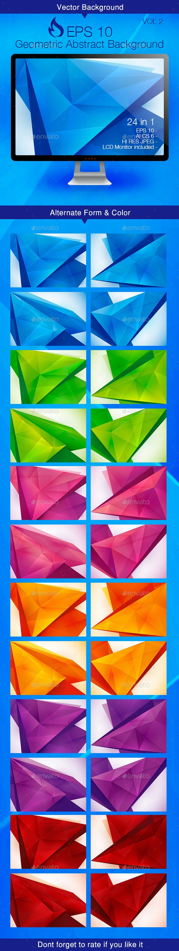 Geometric Abstract Background - Vol 2 - Backgrounds Decorative