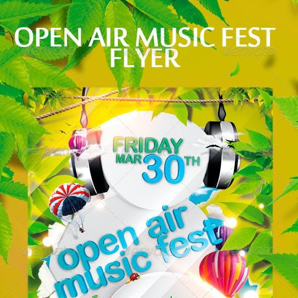 Open Air Music Fest Flyer