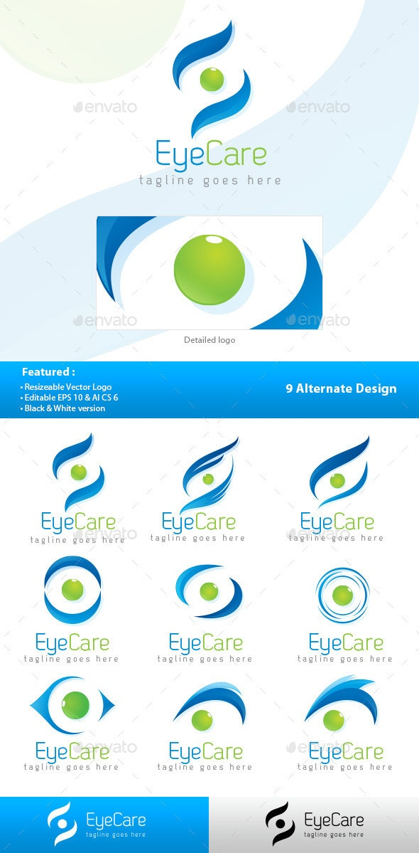 Eye Care Logo - Symbols Logo Templates