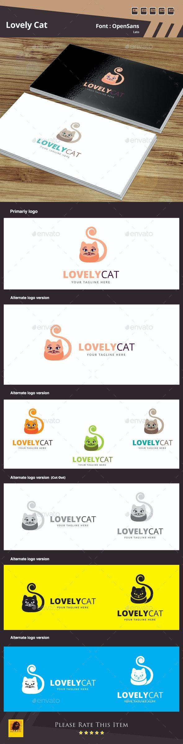 Lovely Cat Logo Template - Animals Logo Templates