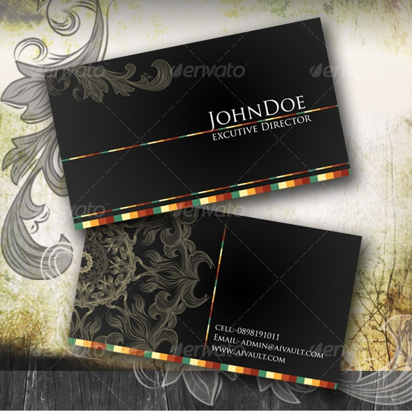 Classical Business Card - Corporate Business Cards