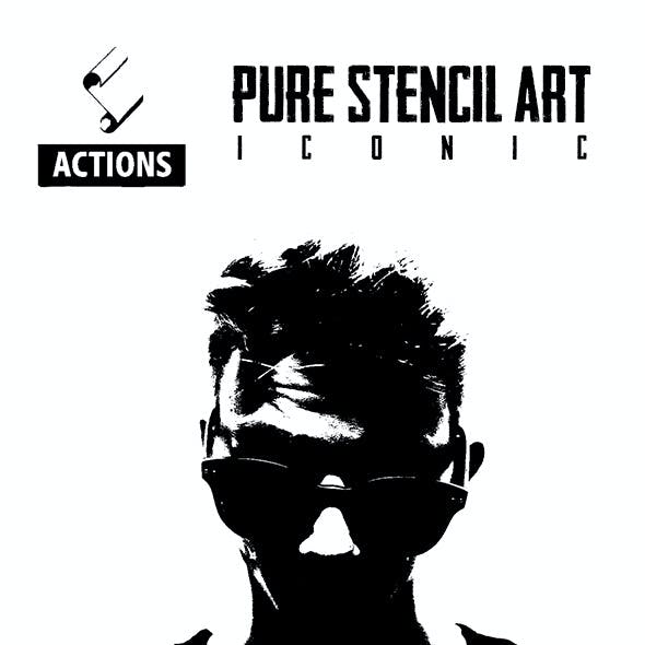 Pure Stencil Art Actions (Iconic)