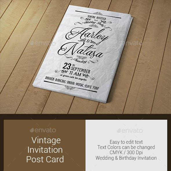 Vintage Invitation & Post Card