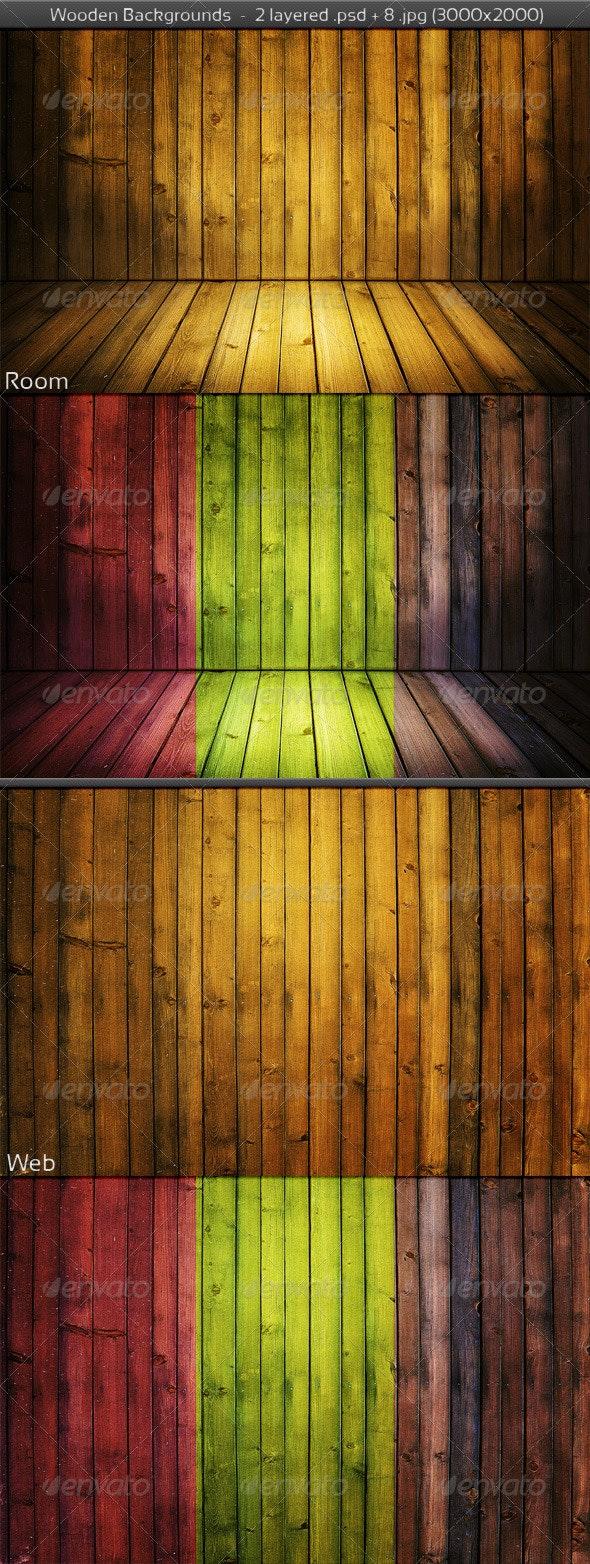 Wooden Room Background - 3D Backgrounds