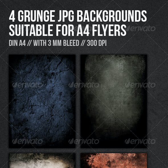 Grunge DIN A4 Flyer Backgrounds