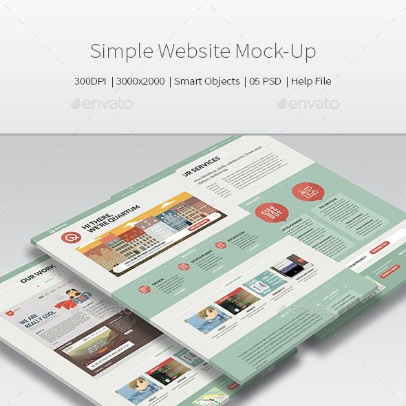 Simple Website Mock-Up