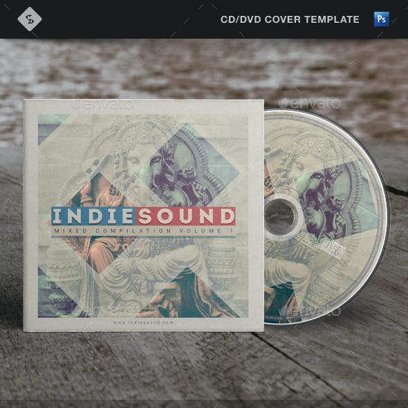 Indie Sound - CD Cover Template Artwork