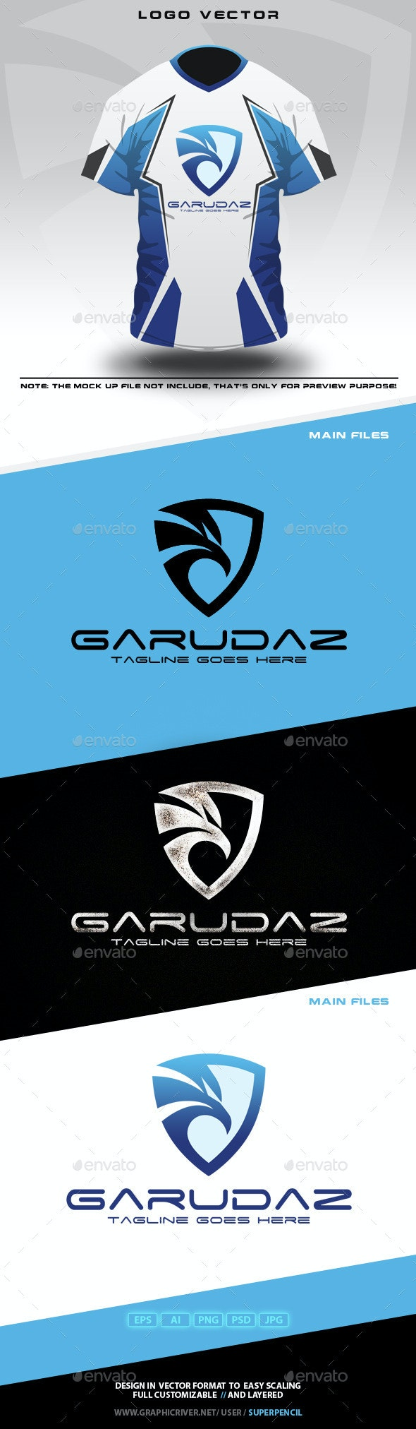 Garudaz Logo - Animals Logo Templates
