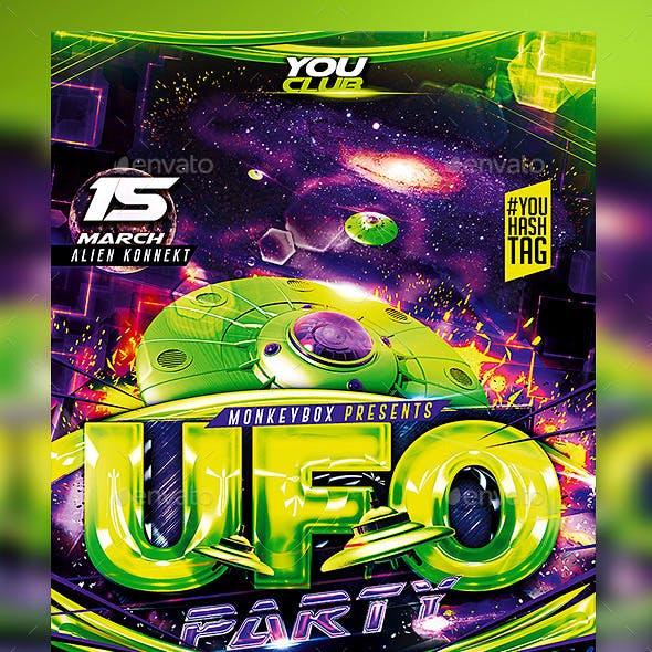 Flyer UFO Party Konnekt