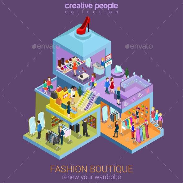 Fashion Boutique Isometric  - Concepts Business