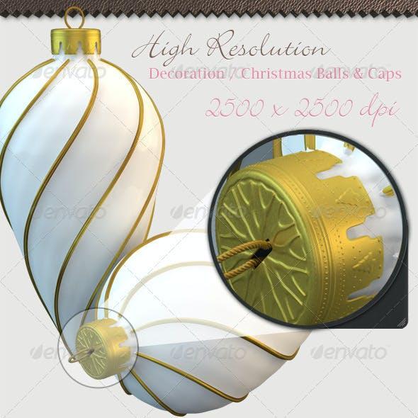 Christmas Decoration Kits Balls Rendering