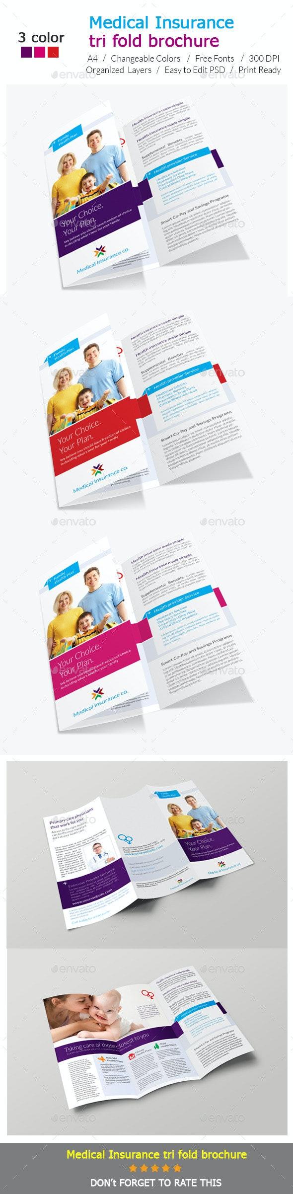 Medical Insurance Tri-Fold brochure Design - Corporate Brochures