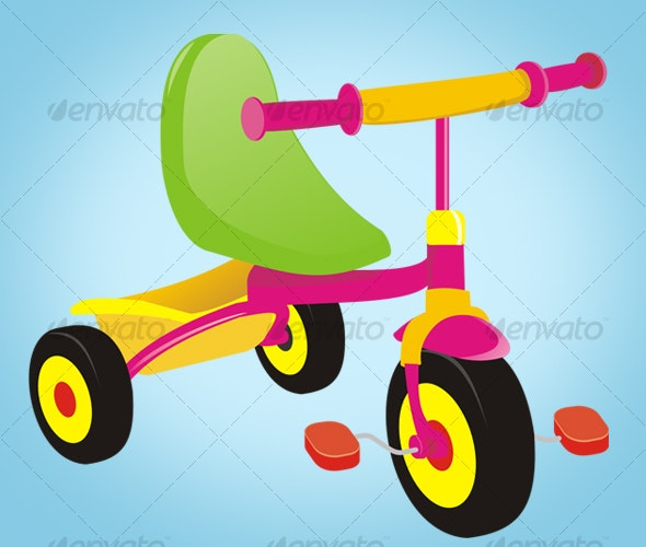 Tricycle vector  - Man-made Objects Objects