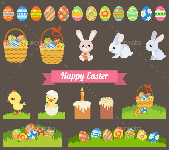 Easter Holiday Icons - Miscellaneous Seasons/Holidays